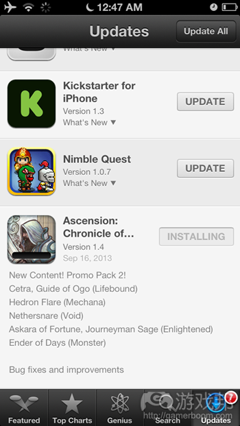 updates(from gamasutra)