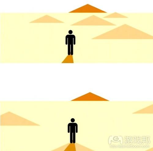 日照下的沙漠