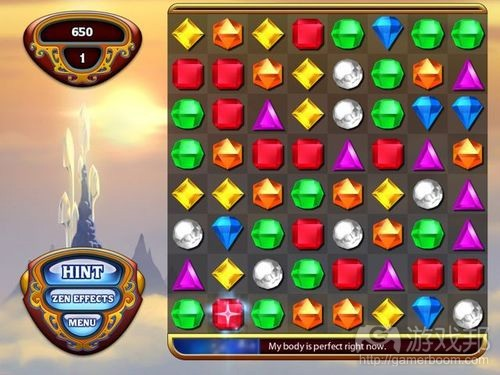 Bejewelled HD(from gamasutra)