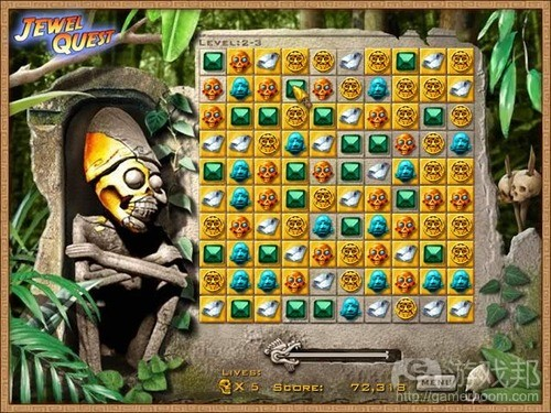 Jewel Quest(from gamasutra)