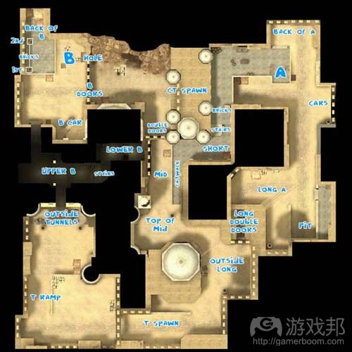 de_dust2 layout(from gamasutra)