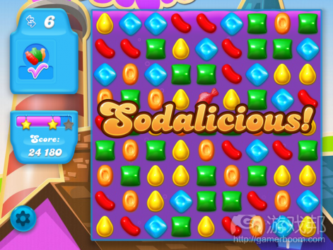 Candy Crush Soda Saga(from pocketgamer.biz)