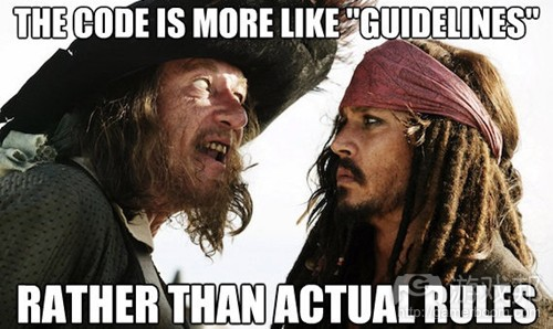 CodeIsMoreLikeGuidelines(from gamasutra)