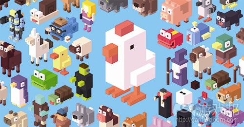 Crossy Road characters(from develop-online)