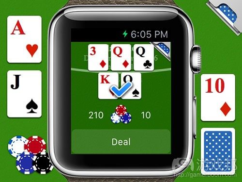 card game for Apple Watch(from venturebeat)