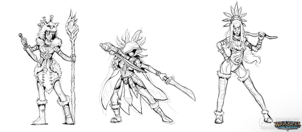 Early sketches(from gamasutra.com)