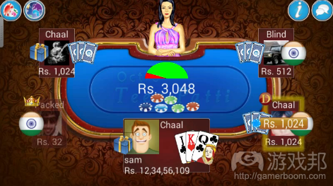 Teen Patti (source:pocketgamer.biz)