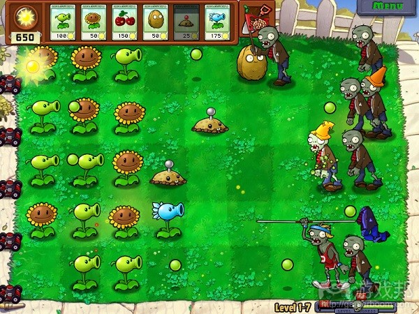 Plants vs Zombies(from tutsplus.com)