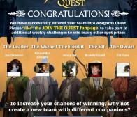 《指环王》登陆Facebook,发布《阿拉贡冒险》广告游戏