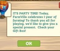 farmville上线一周年庆,向玩家派送热气球当庆典礼物