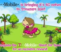 T-Mobile创意广告植入Zynga游戏《Treasure Isle》