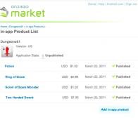 谷歌Android Market今起正式支持应用内置付费功能