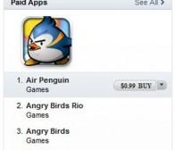 新款鸟类游戏《Air Penguin》称雄App Store排行榜