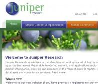 Juniper数据称:2015年手机应用程序下载将达到250亿次