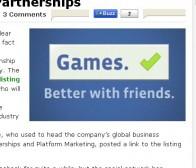 techcrunch:facebook招募游戏合伙人重视社交游戏平台