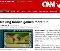CNN消息:社交网络和真实交际元素让手机游戏更精彩