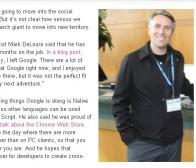 google游戏Mark DeLoura在加盟四个月后以不适宜为由离职