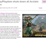 迪士尼旗下Playdom关闭了Acclaim公司的所属游戏