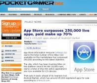 苹果app store有超过25万的有效应用,付费比例达到70%
