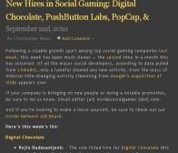 LinkedIn数据:本周全球社交游戏行业公司人事异动情况