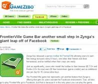 脱离facebook网站局限,zynga推出FrontierVille游戏工具栏