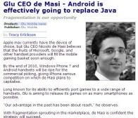 人物专访:Glu首席执行官坚信Android必将取代Java技术
