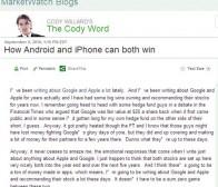 MarketWatch博客:观察家称同时看好Android与iPhone行情