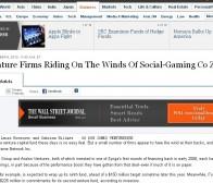 众多风险投资公司押宝社交游戏厂商zynga获得丰厚的回报