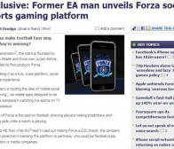 Mobile-ent消息:球赛竞猜手机游戏平台Forza将问世