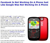 techcrunch消息:Facebook否认将推Facebook Phone