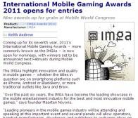 pocketgamer消息:第七届国际手机游戏大奖开始报名参评