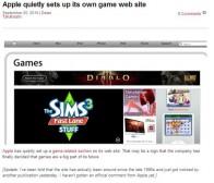 venturebeat消息:苹果官网低调添加游戏主题版块