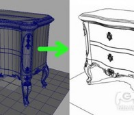 分享用Maya快速描线的2D美术技巧