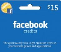 Facebook Credits礼物卡登陆GameStop等零售商店